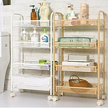 100%全新 可移動四層儲物架 Four-tier storage shelf 多功能收納推車 儲物櫃 衣櫃 雜物架