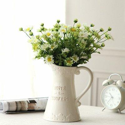 插花花瓶歐式白色陶瓷花瓶擺件花器個性家居創意裝飾客廳現代簡約    全館免運