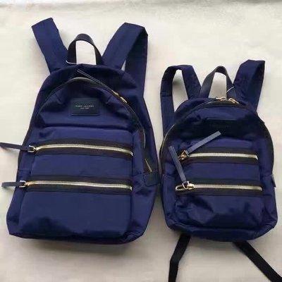 ╭☆包媽子店☆ Marc Jacobs Nylon Biker Backpack 深藍色尼龍布雙肩背包 大/小號