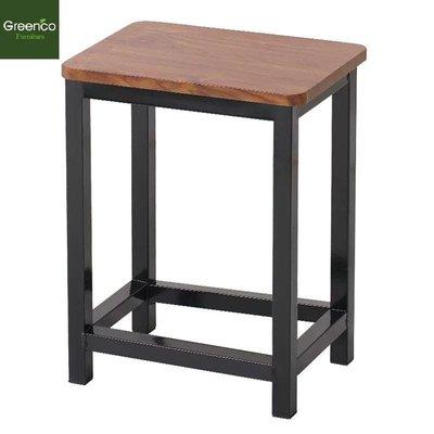 GR2019103-鐵腳室木板櫈仔45 cm高