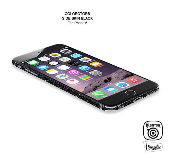 GOODFORIT / 日本COLORCTORS iPhone6邊框貼紙Side Skin 金蔥黑Black