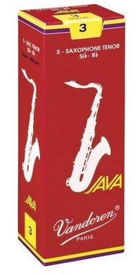 【非比藝術】【Vandoren Java Red Tenor Reeds 薩克斯風次中音 Java 紅盒 竹片 5片裝】