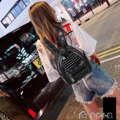 ZIHOPE 雙肩包女明星同款包新款正韓鉚釘鑲鑚後背包PU復古女包ZI812
