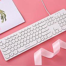 『免運費!可開發票』 愛國者復古朋克有線鍵盤巧克力家用筆記本電腦發光鍵盤女生可愛 LX