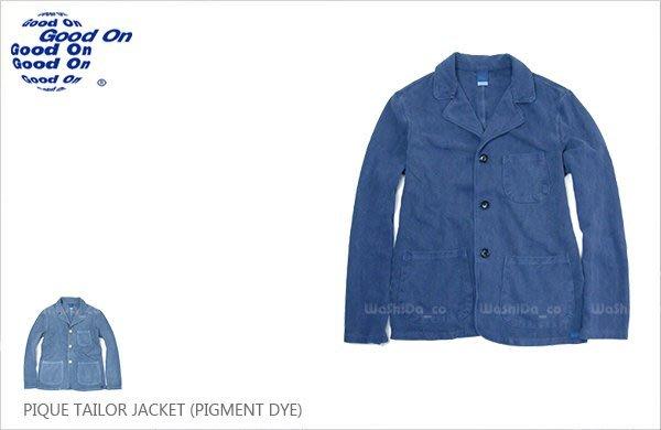 WaShiDa【golt1401p】Good On 日本品牌 後染 無墊肩 棉質 網眼 IVY 深藍 三顆扣 西裝外套