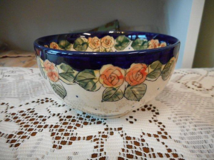 ~~凡爾賽生活精品~~全新波蘭進口手工彩繪玫瑰花造型圓形飯碗