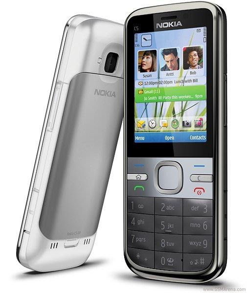 『皇家昌庫』Nokia C5-00 超大按鍵 500萬畫素 不銹鋼金屬機身 盒裝 歐洲產地 銀/黑