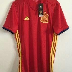 出清特價ADIDAS 愛迪達 歐洲盃西班牙國家隊主場足球上衣AI4411 .