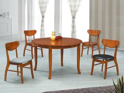 【南洋風休閒傢俱】餐廳家具系列-柚木色4尺圓桌 餐桌 餐廳桌 (金608-1)