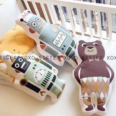 Sis 歐美 北歐 小寶貝們的拍照神器小夥伴 嬰兒房 家飾品 可愛造型抱枕 機器人 領結熊 滿月禮 月子包