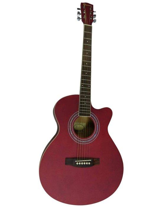 捷登樂器社 台灣品牌Bensons 40吋 消光民謠吉他