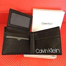 😍聖誕節精選😍Calvin Klein Men's Leather Wallet 黑色真皮銀包 Black