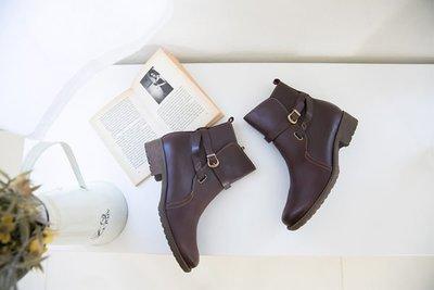 工程靴 全牛皮仿木紋超好穿工程靴 台灣手工鞋