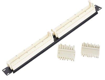 【免運費】【現貨】語音電話跳線架50對100 對 1U Voice telephone jumper frame