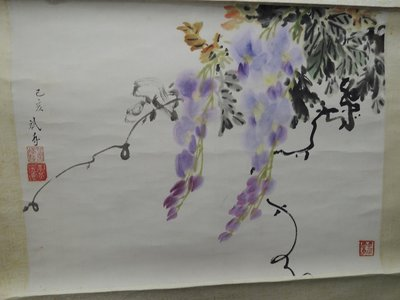 【練家字畫店-收購于右任字畫,收購張大千字畫】丘斌存,花卉,水墨畫作品