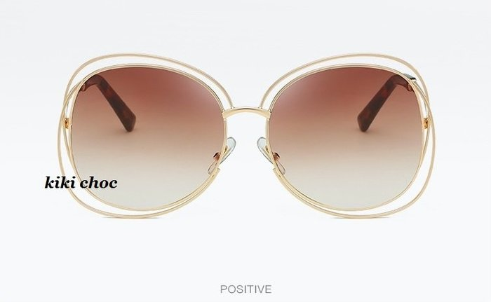 ♥kiki choc♥ 歐美經典明星款 鏤空金屬雙邊太陽眼鏡 墨鏡