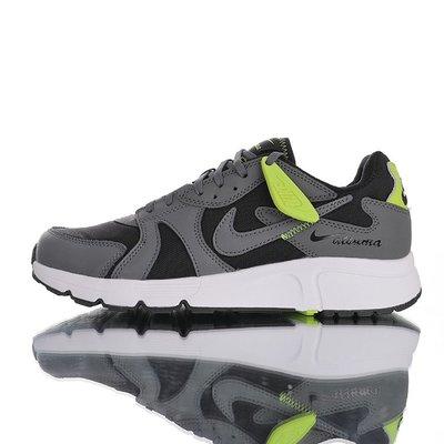 NIKE ATSUMA 厚真町 網面復古輕量透氣休閒運動慢跑鞋「深灰白網球綠」CD5461-002