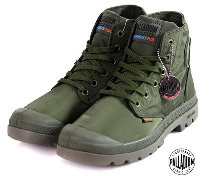 =CodE= PALLADIUM PAMPA PUDDLE LITE+ WP 防水輕量軍靴(軍綠)76117-303 女