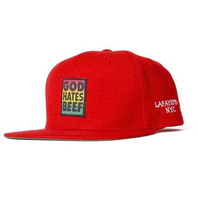 { POISON } LAFAYETTE JUDGMENT SNAPBACK CAP 經典布章後扣棒球帽 紅