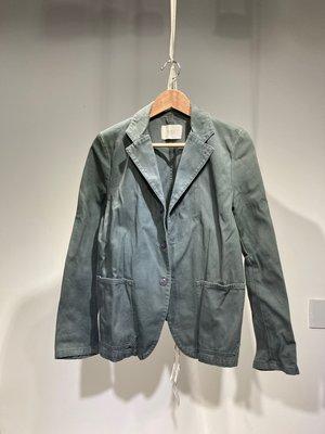 法國 Zucca Travail 橄欖綠西裝外套 J01