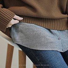 Bellee  正韓  棉質拼接圓弧襯衫無袖內搭背心   (2色) 【D17102-4】百 HOT  預購
