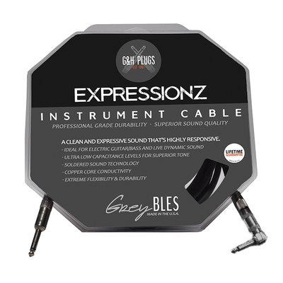 美國 G&H Plugs 高階導線 EXPRESSIONZ 黑標 貝士/電吉他 現場導線 雙直頭/直頭+L頭 10寸