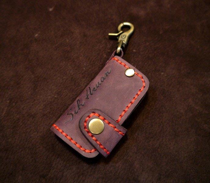 KH手工皮革工作室  MIT全手作CITROËN雪鐵龍Grand C4 Picasso DS5汽車感應皮套 晶片鑰匙包