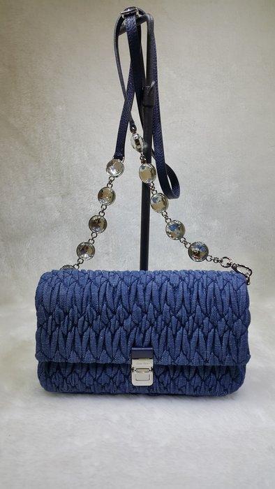 *旺角名店* MIU MIU 可芙水晶珠珠側背帶斜背包 手拿包 兩用包