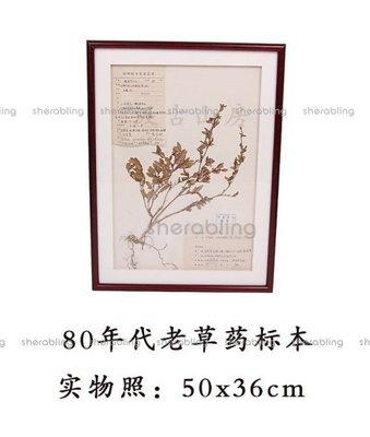 (ME-R_231)80年代老中草藥標本 經專業處理 可長期保存鏡框