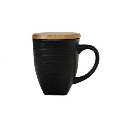 西式創意陶瓷杯黑色啞光馬克杯情侶杯創意簡約磨砂咖啡杯水杯