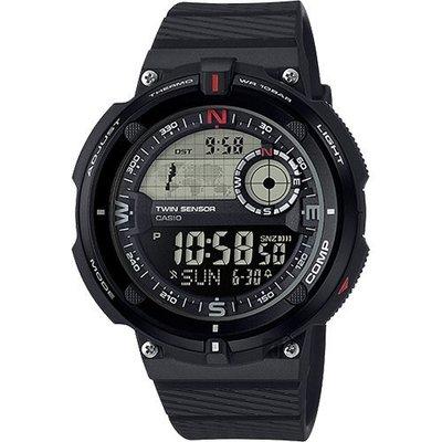 【東洋商行】免運 CASIO 卡西歐 世界地圖概念雙傳感器數位運動錶 SGW-600H-1BDR 手錶 電子錶 腕錶