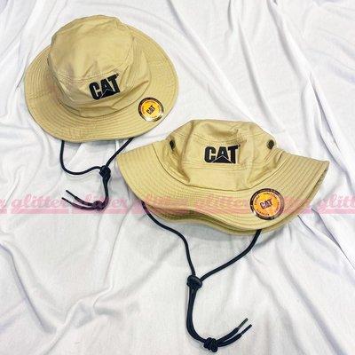 glitter。全新現貨 Caterpillar Cat Trademark Safari 漁夫帽 綁帶 美國 工裝