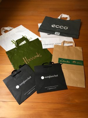 Clark Ecco Harrods French collection 英國品牌提袋七個 $199免運 7-11交貨便