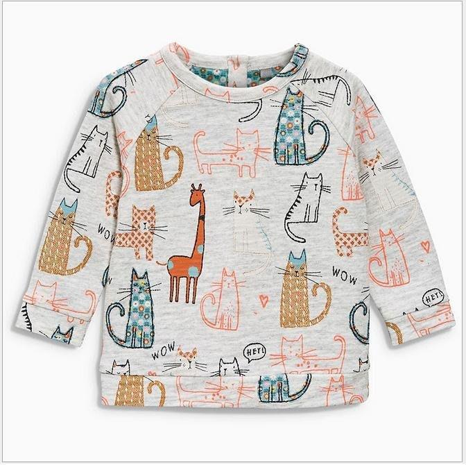 ☆草莓花園☆BM-1138  可愛貓咪和長頸鹿  歐美風兒童長袖衣服 純棉童T 女童  童T恤