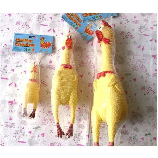 M號 怪叫雞 人寵共用舒壓玩具 慘叫雞 尖叫雞 發洩 搞笑 舒壓 啾啾 雞叫 玩具雞 門鈴 會叫的玩具 逗趣 喜感 寵物