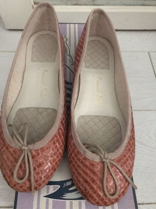 正品French sole 貴婦手工編織芭蕾舞鞋,size38.5,粉色,37的人可穿