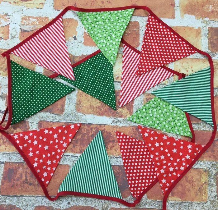 紅綠派對三角旗   野餐露營/生日派對/婚禮佈置裝飾用品