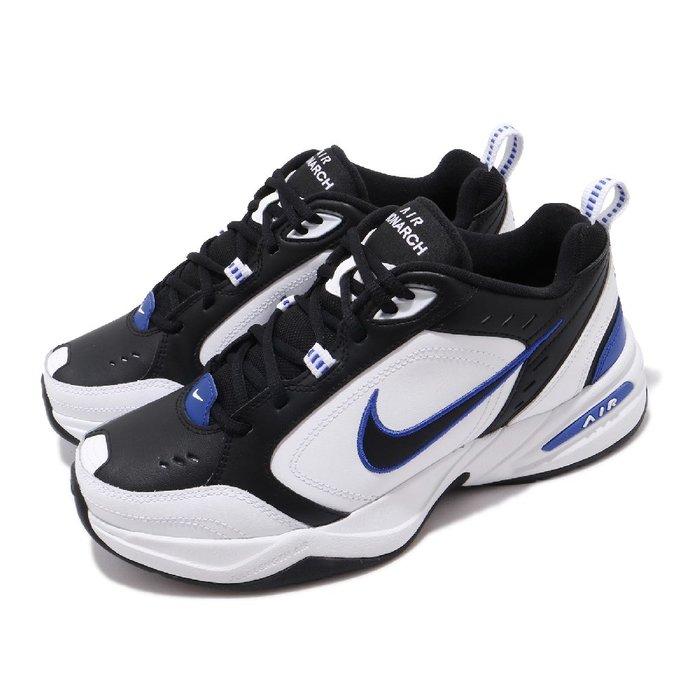 =CodE= NIKE AIR MONARCH IV 復古皮革慢跑鞋(黑白藍)415445-002 老爹鞋 M2K 男女