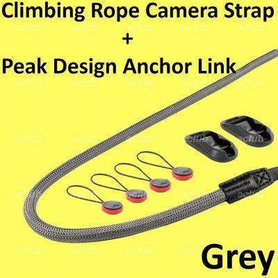 全新 快裝拆登山繩相機帶 Quick Release Connect Climbing Rope Camera Strap 灰色 Grey