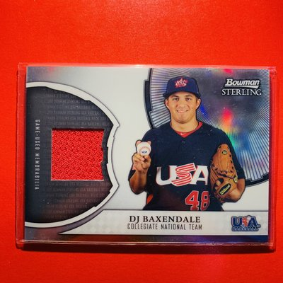 D.J. Baxendale 2011 Bowman Sterling USA Relic 新人球衣卡 RC