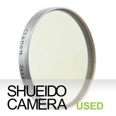 集英堂写真機【全國免運】良上品 CANON SERIES VI 早期 無螺牙式 淺黃濾鏡 保護鏡 #25 20153
