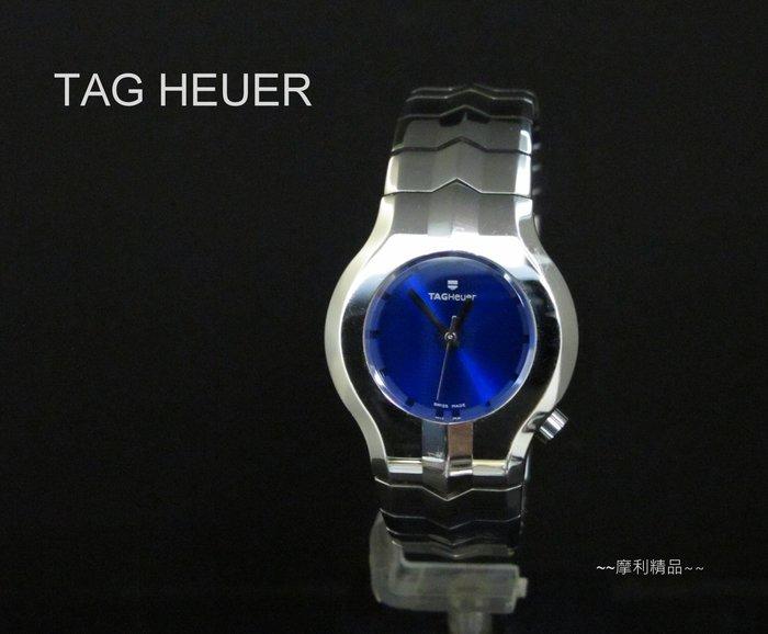 【摩利精品】TAG HEUER alter ego 藍面綱帶女錶  *真品* 低價特賣