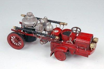 [ 尚霖模型館 ]模型古董車 { Q708-1 } 美國古董金屬消防車 1906