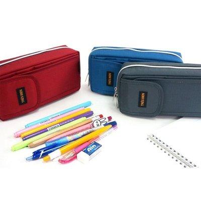 韓國文具【Cube生活雜貨】(現貨+預購)TRES BIEN筆袋/鉛筆盒(化妝包.鉛筆盒.工具包)