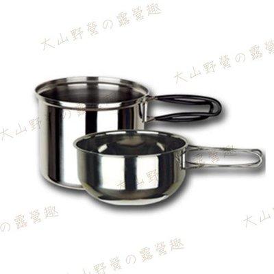 【大山野營】ARC-302 野樂 個人攜帶炊具 不鏽鋼鍋 不鏽鋼碗 單人鍋 二人鍋 雙人鍋