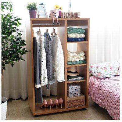 北海道居家生活館-SM-2824: 開放式可移動加厚收納衣櫃附收納盒-衣柜-書柜-有輪子