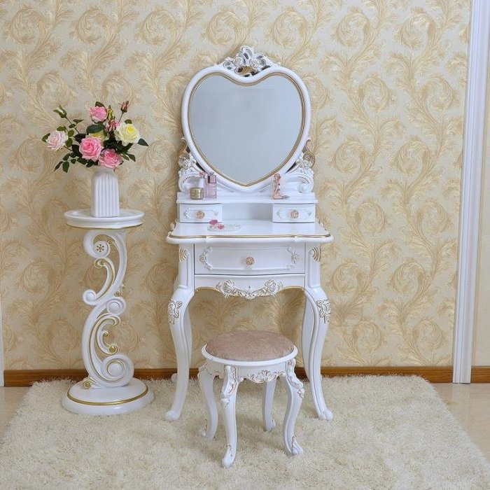 歐式梳妝台臥室多功能公主小戶型迷你現代簡約單人經濟型化妝桌櫃YSY