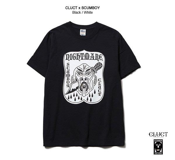 GOODFORIT / 日本品牌CLUCT x SCUMBOY T-Shirt洗鍊人首聯名上衣/兩色
