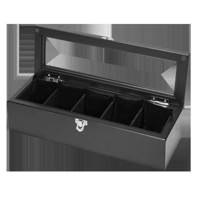 999雅式歐式復古木質天窗手表盒子五格裝手表展示盒收藏收納盒首飾盒01NO03