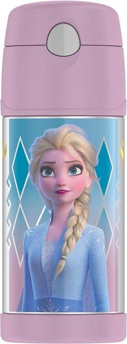 預購 美國 THERMOS 膳魔師 Frozen 2 冰雪奇緣 粉色 不鏽鋼吸管式水壺 保溫杯 保冷杯 兒童水壺 保溫瓶